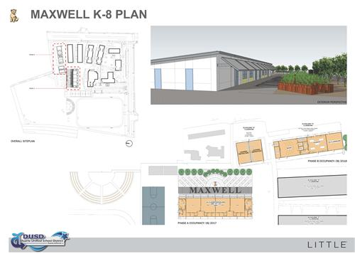 Bond measure e current construction projects for Maxwell plan