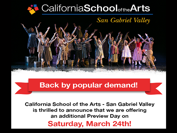 DUSD/CSArts Preview Day on March 24, 2018