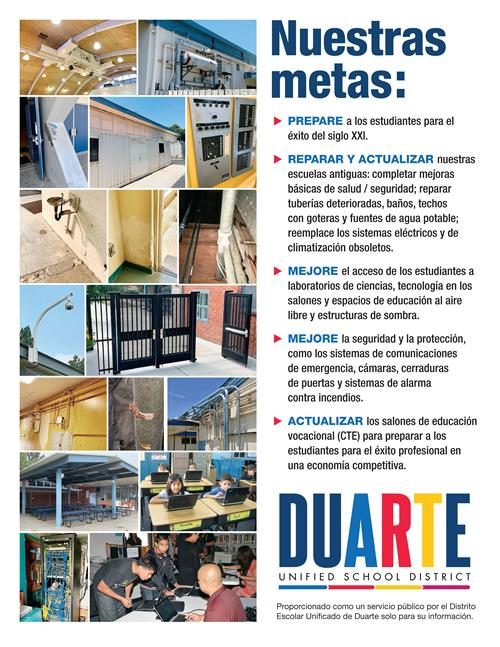 Facilities Goals Spanish