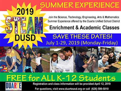 The DUSD STEAM Summer Experience Starts July 1!