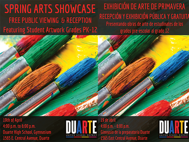 Spring Arts Showcase is April 19!