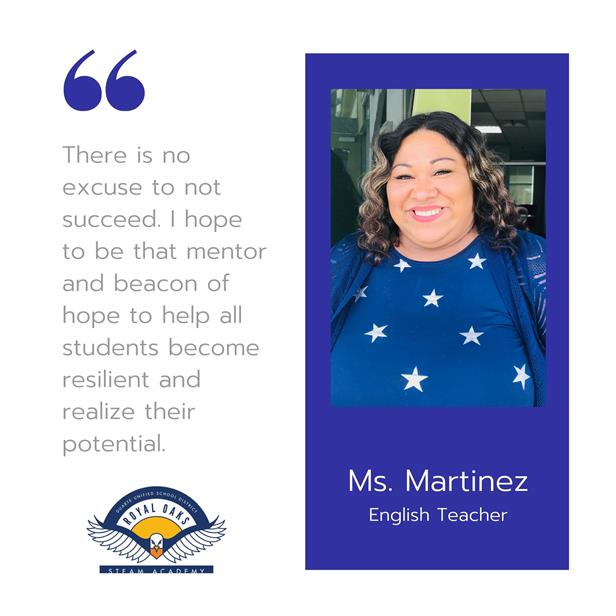 Staff Highlight - Ms. Martinez