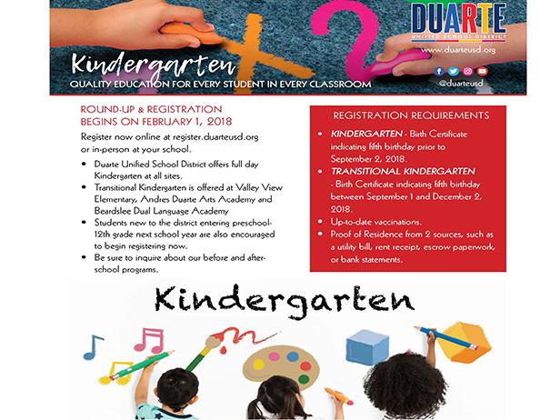 Kindergarten Enrollment is Open Now!